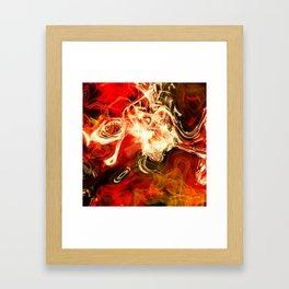 Red smoke background Framed Art Print