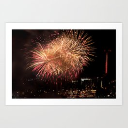 Firework collection 12 Art Print