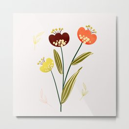 Just a pretty flower illustration no3 Metal Print