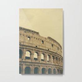 Brown Colosseum Metal Print