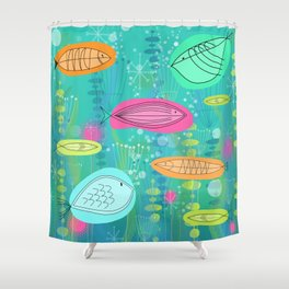 Big Fish Little Fish Shower Curtain