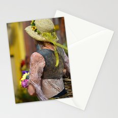 Flower Lady - Yellow Stationery Cards