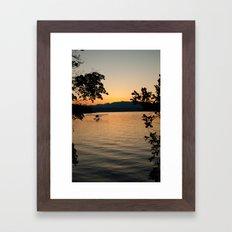 Hood Canal Sunset Framed Art Print