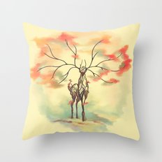 Essence of Nature - A Deer's Echo Throw Pillow