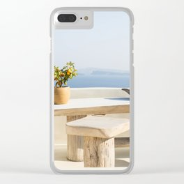Santorini, Greece #society6 #decor #buyart Clear iPhone Case