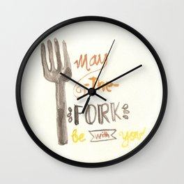 May The Fork Be With You Wall Clock