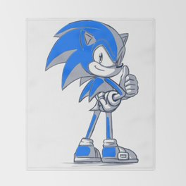 Sonic Good  Throw Blanket
