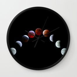 Moon Phases (Blood Moon) Wall Clock