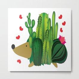 Hedgehog from cactus Metal Print