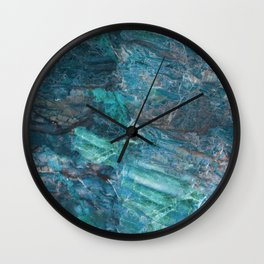 Azzurro Marble, Teal, Aqua, Blue Wall Clock