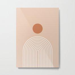 Minimalist Geometric Rainbow Print - midten av århundre, geometrisk veggkunst, abstrakt veggkunst, g Metal Print