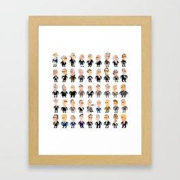 45 Presidents of the U.S.A. Framed Art Print