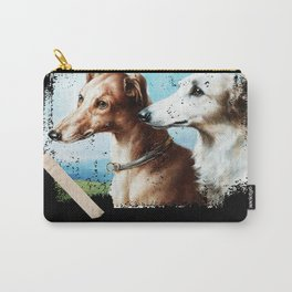 Whippet Dog - Greyhound - Painting Carry-All Pouch