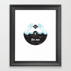 In The Arms of The Sea Framed Art Print