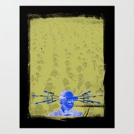 SHOCK VISOR Art Print