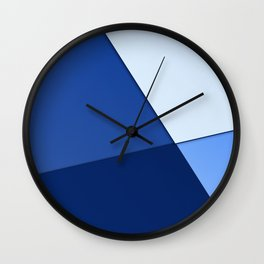 Four shades of blue. Wall Clock