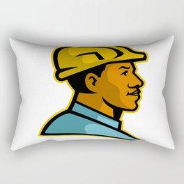 African American Construction Worker Mascot Rectangular Pillow