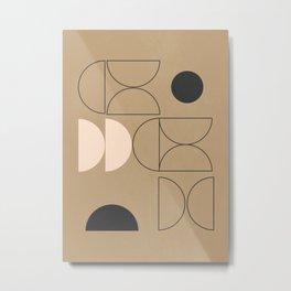 Minimal Geometric 40 Metal Print