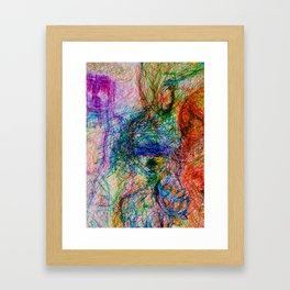 Faces for Moods for Seasons  Framed Art Print