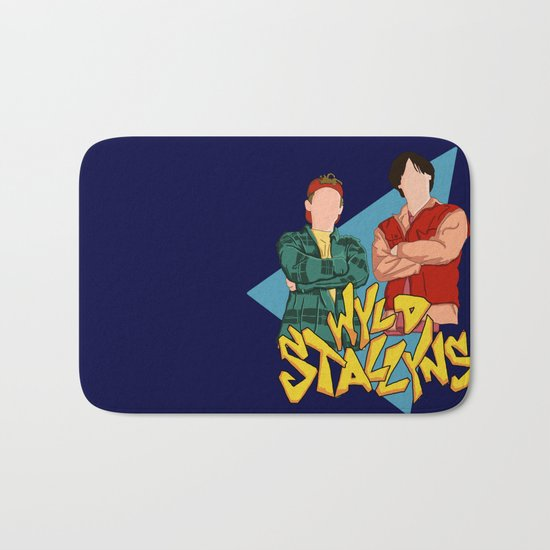 Bill and Ted Wyld Stallyns Bath Mat