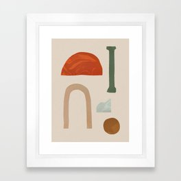 Shapes from Rome Framed Art Print