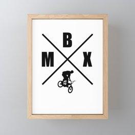 BMX Framed Mini Art Print
