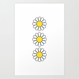 Daisy - Flower - Hipster Art Print