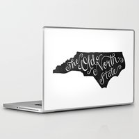 north carolina Laptop & iPad Skins featuring North Carolina by Lydia Kuekes