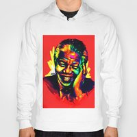 mandela Hoodies featuring Mandela by abinibi