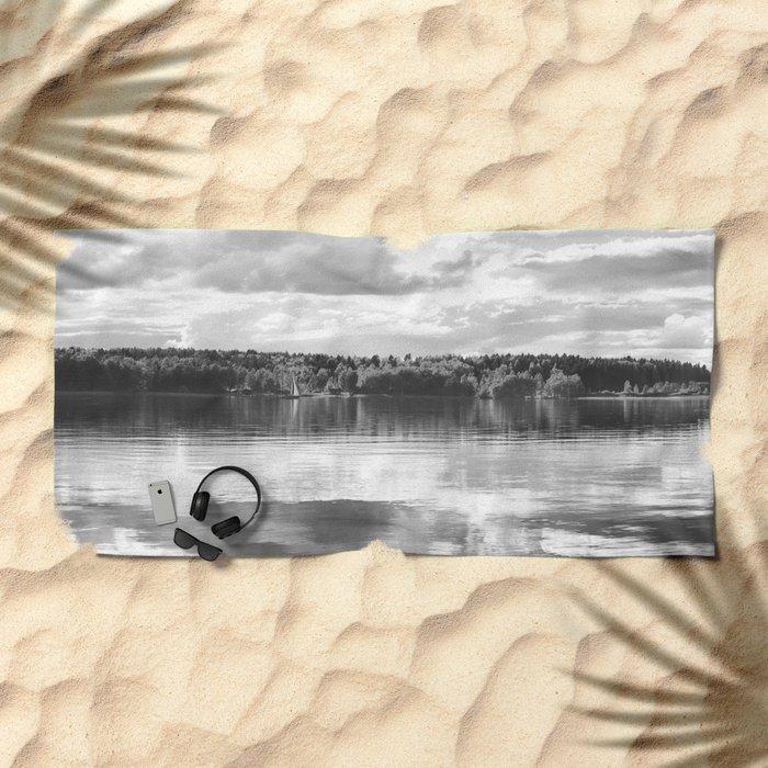 Reflections On A Lake #decor #society6 Beach Towel