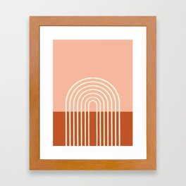 Terracota Pastel Framed Art Print