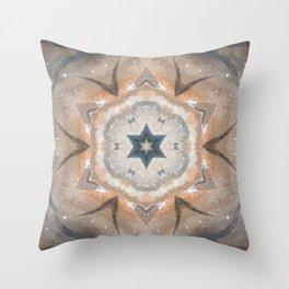 Bushfire Gum Medallion 6 Throw Pillow