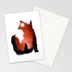 In the Swaying Forest Trees Stationery Cards