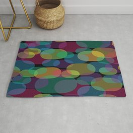 Oval Abstract Pattern Rug