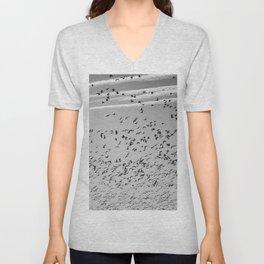 The Birds (Black and White) Unisex V-Neck