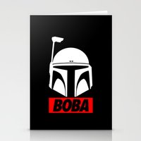 boba Stationery Cards featuring Defy-Boba by IIIIHiveIIII