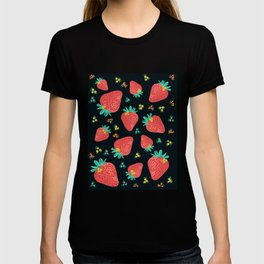 Strawberries | Black T-shirt