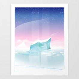 Arctic landscape. Art Print