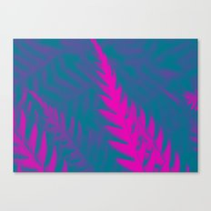 Nature Pattern # 2 - Fern (Blue Pink) Canvas Print