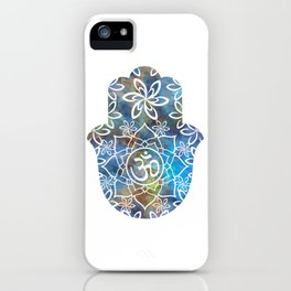 Om Hamsa Hand - colorful abstract iPhone Case