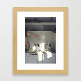 The Greenhouse Laboratory Project Framed Art Print