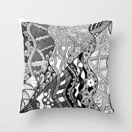 Abstracted Garden 1 Throw Pillow