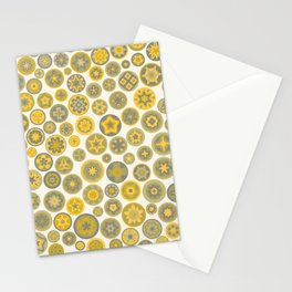 Millefiore Circles - color: Gold, Silver & Bronze Stationery Cards