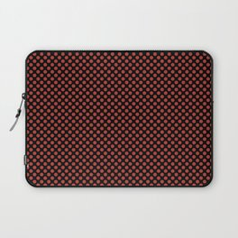 Black and Aurora Red Polka Dots Laptop Sleeve