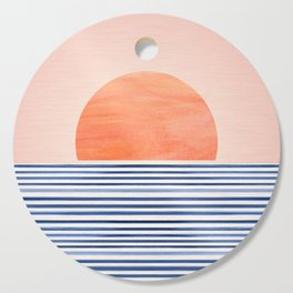 Summer Sunrise - Minimal Abstract Cutting Board