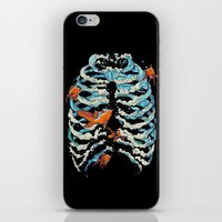 fish iPhone & iPod Skins featuring FISH BONE  by Huebucket