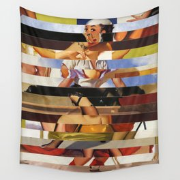Glitch Pin-Up Redux: Heather Wall Tapestry