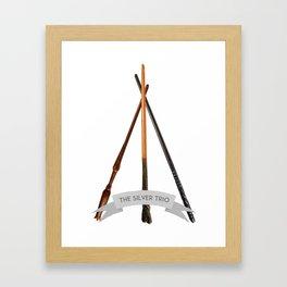 The Silver Trio Framed Art Print