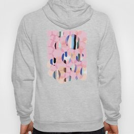 Pink Abstract Platelet #expressive #pink Hoody