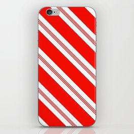 Candy Cane Stripes Holiday Pattern iPhone Skin